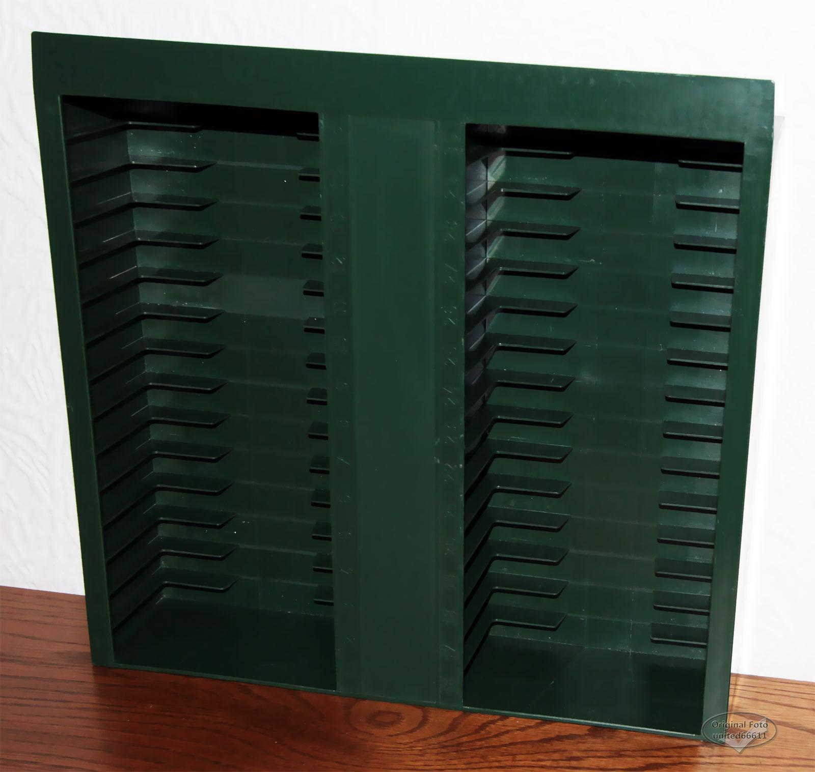 kassettenst nder regal gr n schublade vintage 30 mc. Black Bedroom Furniture Sets. Home Design Ideas