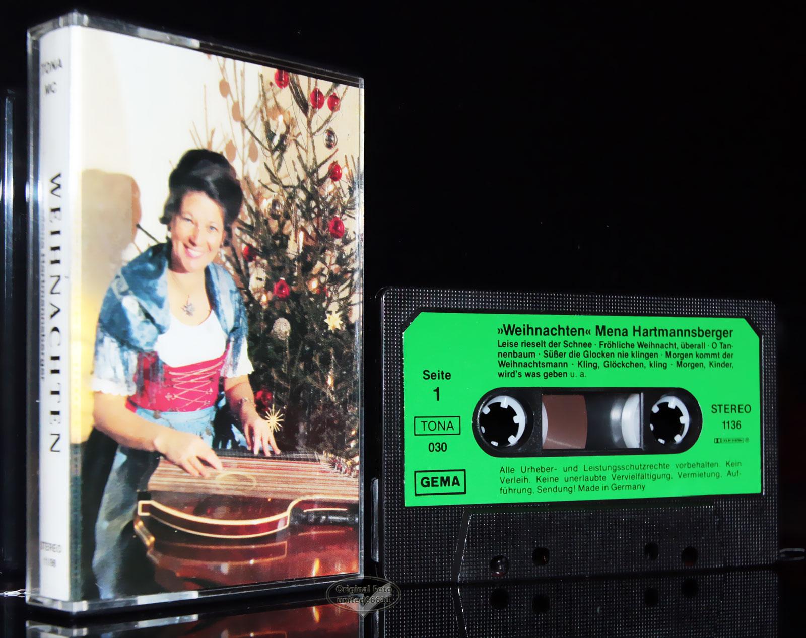 weihnachten mit mena hartmannsberger zither lieder mc tape. Black Bedroom Furniture Sets. Home Design Ideas