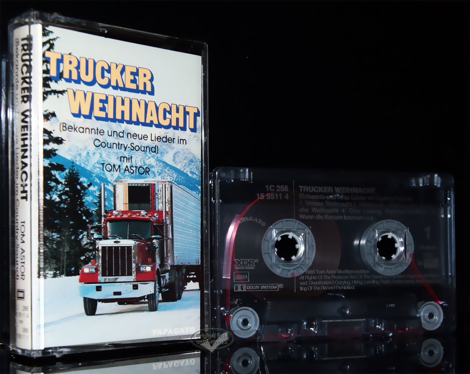 trucker weihnacht im country sound astor 1986 original mc. Black Bedroom Furniture Sets. Home Design Ideas
